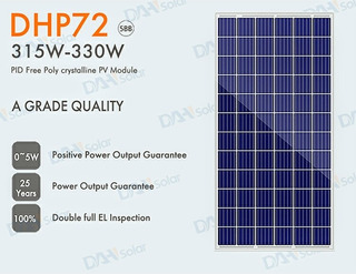 Placa Solar 320w Dhp-72