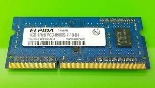 Memoria Ram 1gb 1rx8 Pc3 8500s. Elpida