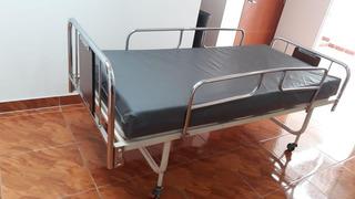 Cama Hospitalaria De 2 Planos Tipo Manual Usada
