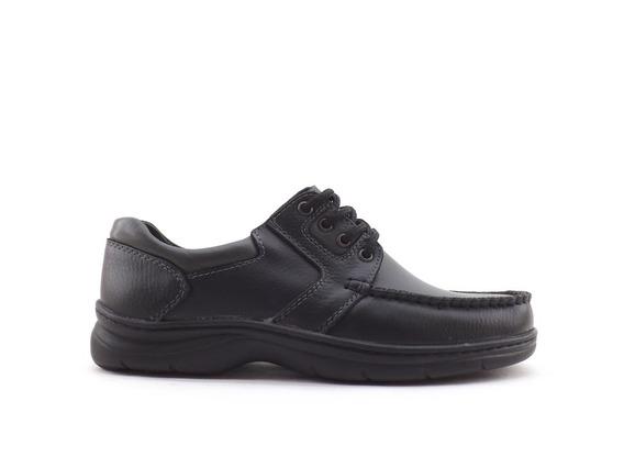Zapatos Hombre Cuero Confort Comodo Acordonado Liquidacion