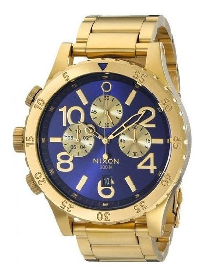 Relógio Ma12 Nixon 51-30 Dourado Lançamento 2019 C/ Caixa
