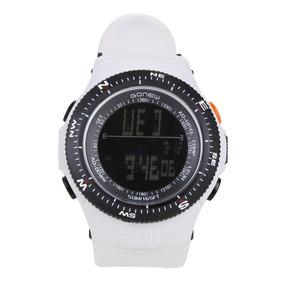 Relógio Digital Gonew Masculino - Cor Preto+branco