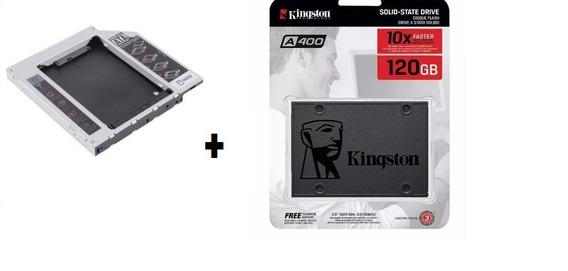 Ssd 120 Gb Sata 3 Kingston A400 - 500 Mb/s + Adaptador