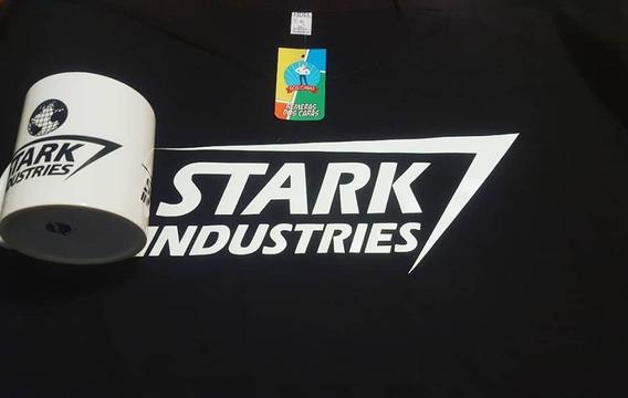 Remera Y Taza De Stark Industries Oferta - Remera De Comics