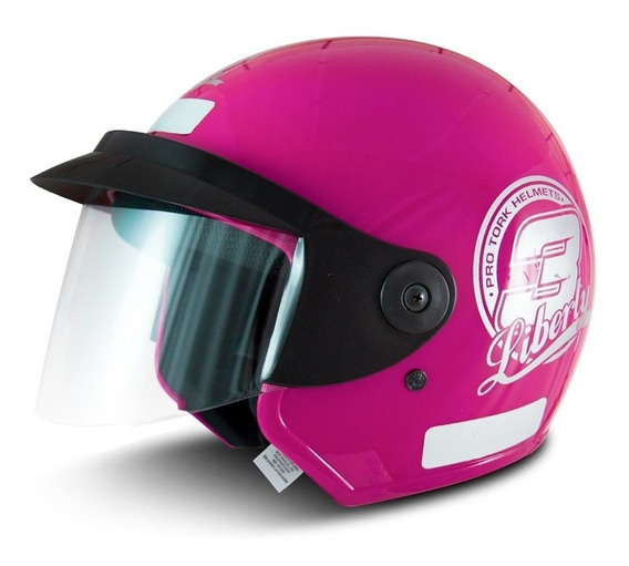 Capacete para moto aberto Pro Tork Liberty Three rosa tamanho 58