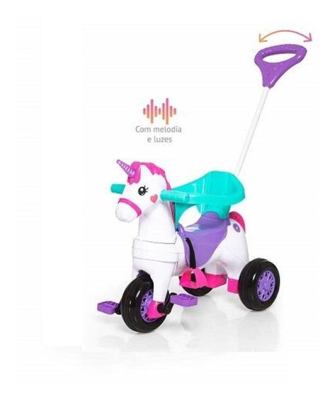 Triciclo Calesita Fantasy Uni 1001 Lilás