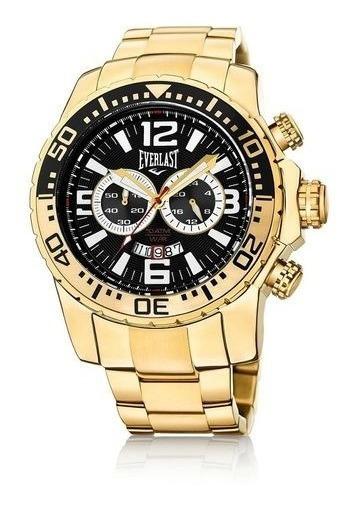 Relógio Cronografo Everlast E652 Dourado