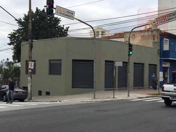 Salão Para Alugar, 290 M² Por R$ 9.200,00/mês - Vila Romana - São Paulo/sp - Sl0033