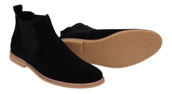 Botina Chelsea Boots Areia Em Couro Camurça 502 Diversas Cores