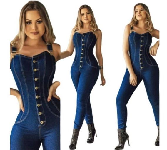 2019 Macacão Jeans Estilo Estilo Pit Bull *promoçao Hoje*