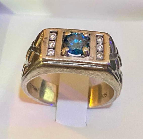 Anel De Diamante Azul