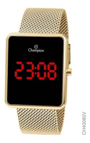 Relógio Champion Feminino Digital Dourado Original