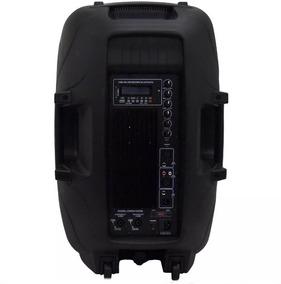 Caixa Bi Amplificada 15p Titânio 300w Csr-5515 Usb Bluetooth