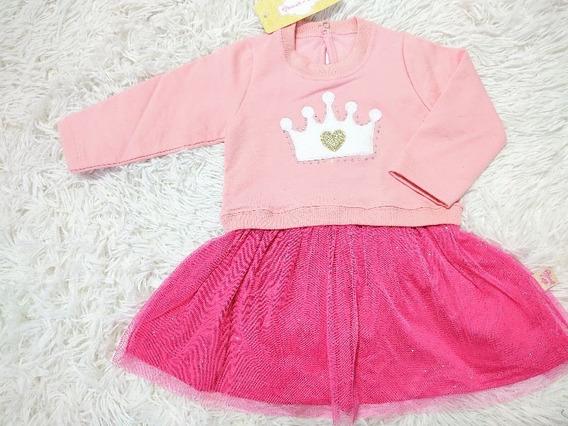 Roupa Vestido Bebê Menina Infantil Modinha Luxinho Barato