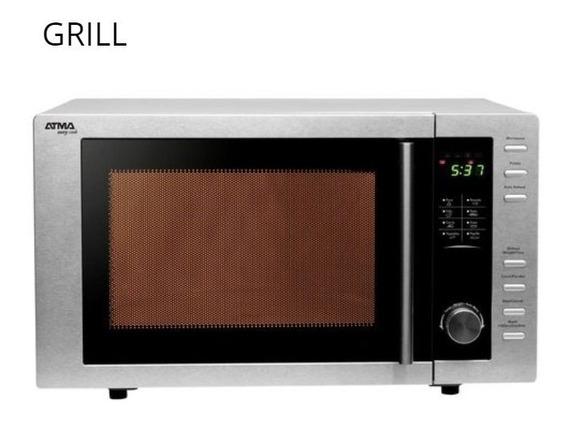 Horno Microondas Digital Atma Acero Inoxidable 23l Grill