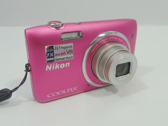 Camera Fotográfica Nikon S3500 20.1mp Promoção + Brindes