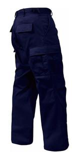 Pantalon Tactico Combate Ripstop Azul Policial Corte Bdu