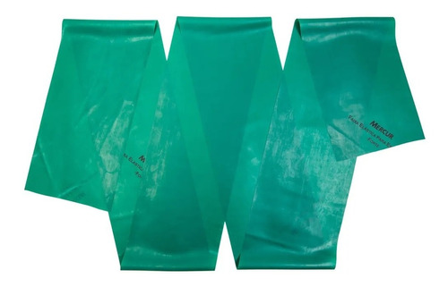 Imagem 1 de 5 de Faixa Elástica Para Exercícios Forte Verde - Mercur