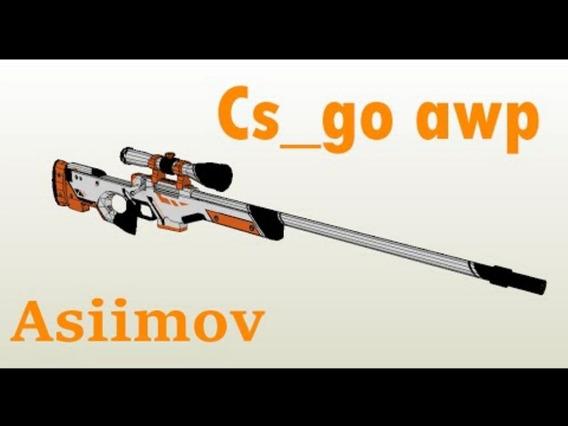 Awp - Asiimov - Cs Go- Tamaño Real Plantillas Papel