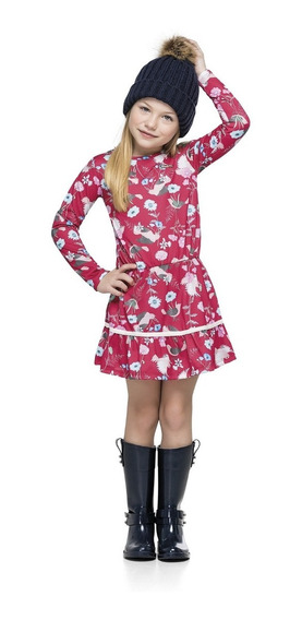 Vestido Estampado Infantil Cotton Quimby