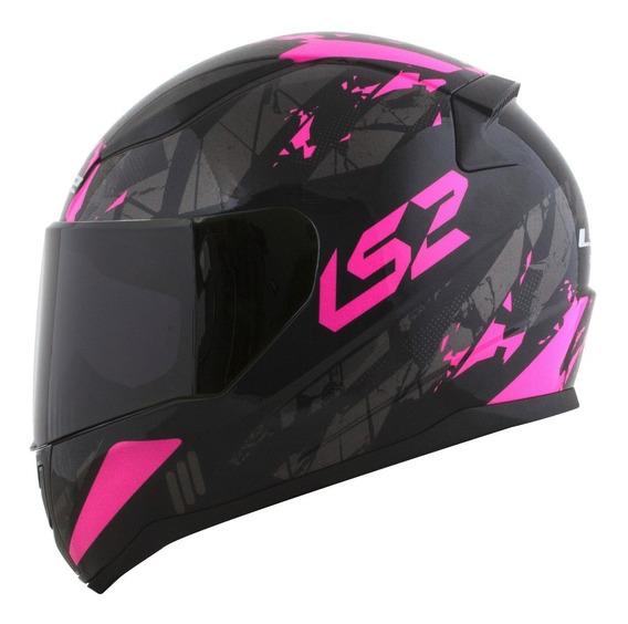 Capacete Ls2 Ff353 Rapid Para Moto Feminino