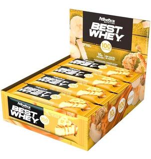1 Cx Barra Proteina Best Whey Bar - 12 Unidades - Atlhetica