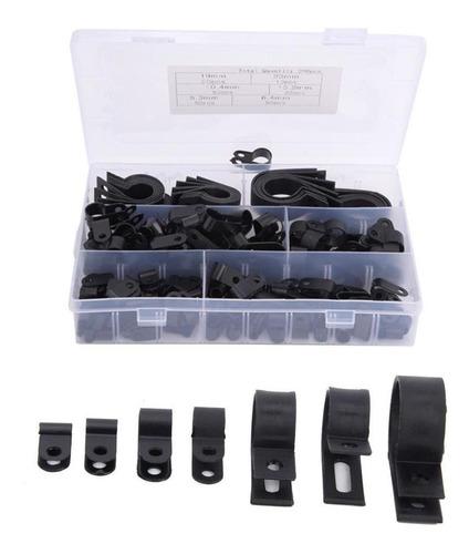 Imagen 1 de 5 de 200 Unids Plástico Nylon Cable Abrazadera R Tipo P Clip De