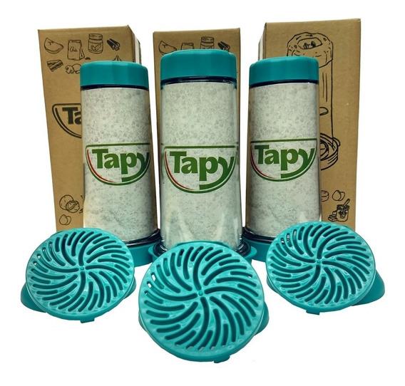 Tapioqueira Tapy Azul Tiffany - Armazena E Peneira - Kit-3