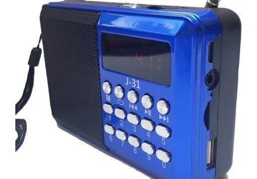 Mini Rádio Fm Usb Cartão De Memória J-31 Altomex