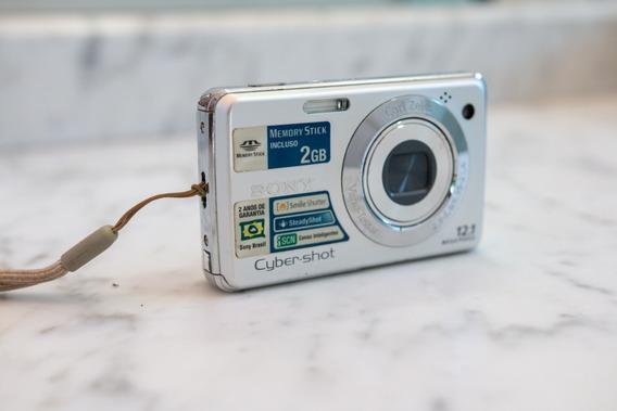 Câmera Sony Cyber-shot Dsc-w210 - 12,1 Mp Em Bom Estado