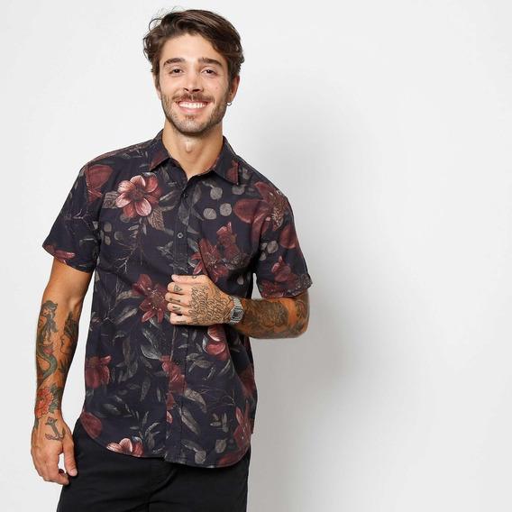 Camisa Bloom - Preta & Vinho - John John