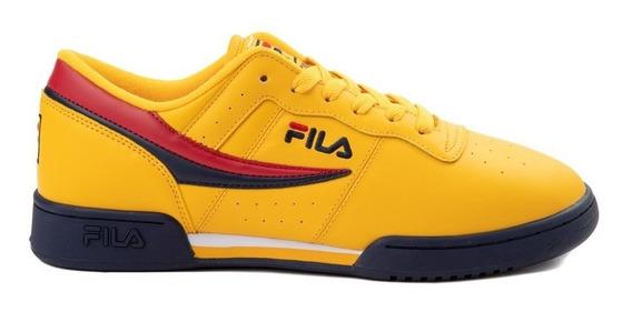 Tenis Fila Original Fitness Deportivos Yellow Mujer
