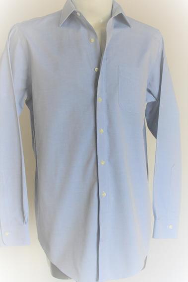 Camisa Manga Larga Brooks Brothers 15 1/2- 35 Azul