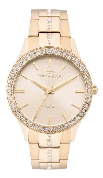 Relógio Technos Feminino Crystal 2035mmk/4x Dourado Lançamen