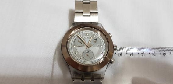 Relógio Masculino Swatch Irony Diaphane Swiss Cronografo