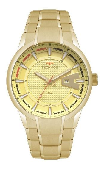 Relógio Dourado Masculino Technos Performance 2117lax/4x.