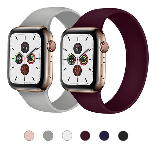 Pulso Manilla Correa Solo Loop Para Apple Watch 38/40 42/44