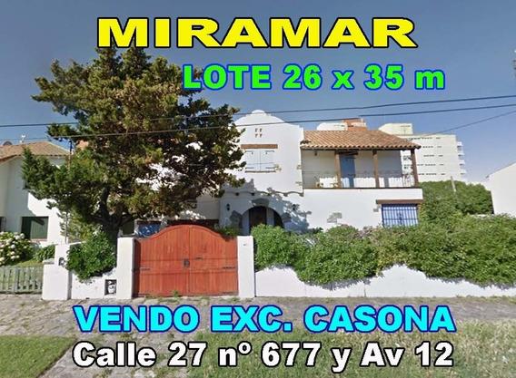 Miramar Centro Playa A 200m Casa 400m2 Lote 900m2