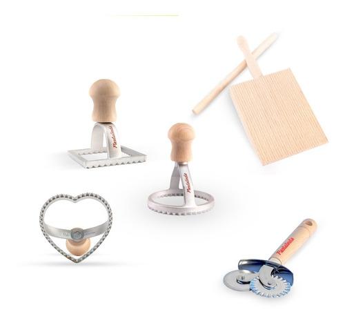 Pastalinda Kit Accesorios: Rueda + Tabla Ñoquis + Sellos X 3