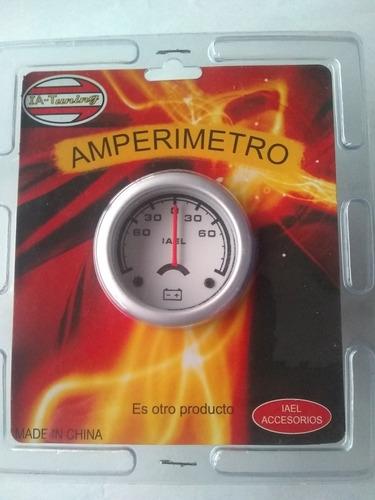 Imagen 1 de 1 de Amperímetro Instrumental Deportivo Fondo Blanco 52mm
