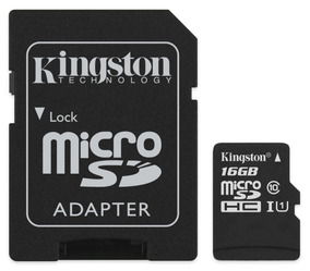 Cartão Micro Sd 16gb Kingston Sdcs/16gb Classe 10 Original