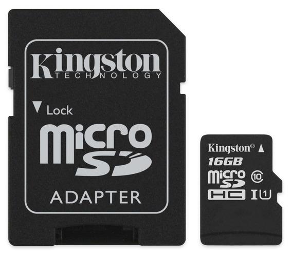 Cartão Micro Sd 16gb Kingston Sdcs/16gb Classe 10 Frete 12