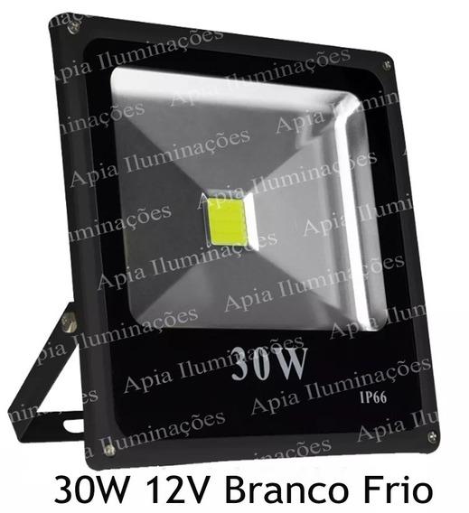 Refletor Led 30w 12v Auto Veicular . Kit Com 4 Unidades