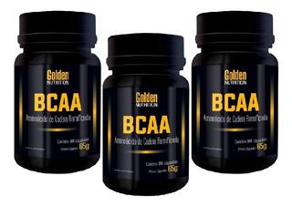 Combo Bcaa Com 3 Bcaas - 100 Cápsulas - Golden Nutrition