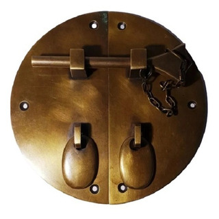 Herraje De Bronce De 15 Cm De Diametro Para Mueble Oriental
