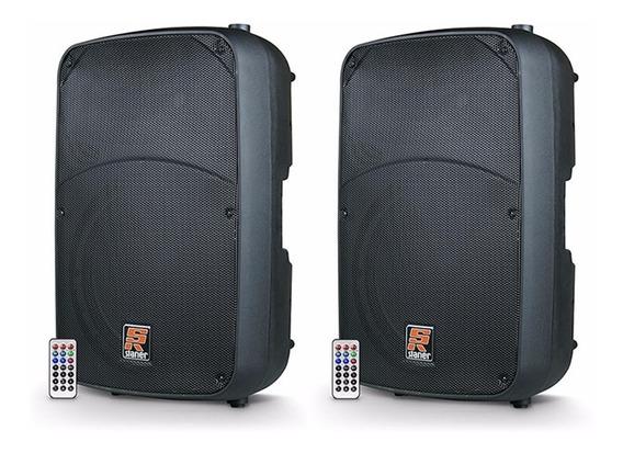 Kit 2 Caixas Staner Sr315a 15 Pol Bi-amplificada Bluetooth