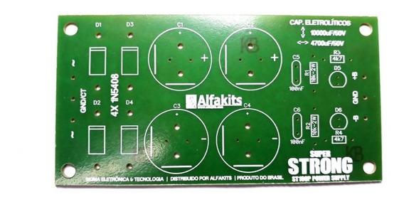 Placa Fonte Simétrica Para Amplificador-superstrong-alfakits