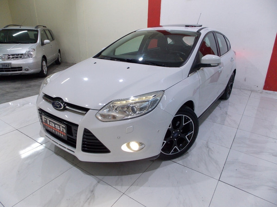 Ford Focus 2015 Hatch Titanium Plus + Couro + Teto (top)