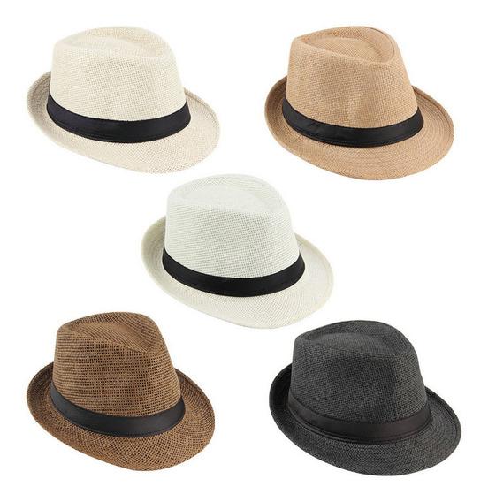 20 Chapéu Carioca Modelo Panamá Aba Curta Forrado Atacado
