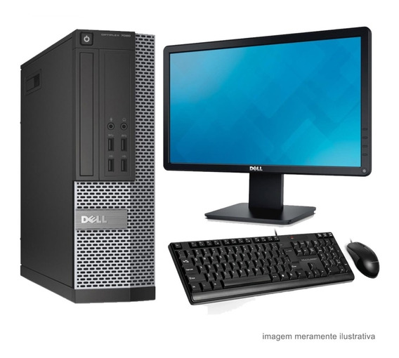 Computador Dell I5 3470 8gb Hd 500gb Wifi Win10 + Monitor